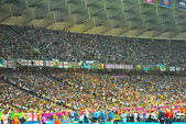 Wave of during the match of EURO 2012 Italy against England in Kiev, Ukraine — Stock Photo