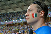 Italian fan during the match of EURO 2012 Italy against England in Kiev, Ukraine — Stockfoto