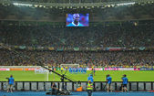 Mario Balotelli is ready to score his penalty during the football match of EURO 2012 Italy against England in Kiev — Stock Photo