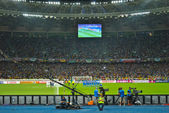 Penalty shootouts during the football match of EURO 2012 Italy against England in Kiev — Stock Photo