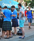 Scotch Italians in Kiev during EURO 2012 — Stock Photo