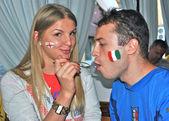 İngiltere beslemeleri i̇talya euro 2012 — Stok fotoğraf
