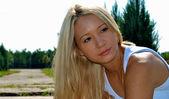 Beautiful sexy blond girl — Stock Photo