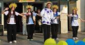 Gruppe von ukrainischen tänze nationalen tanz — Stockfoto