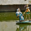 Monument to Pinocchio on the lake — Foto Stock