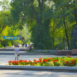 Park named after colonel Chkalov in Dnipropetrovsk, Ukraine — Stock Photo #12408910