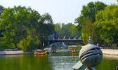 Parque Coronel chkalov en dnipropetrovsk, Ucrania — Foto de Stock