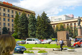 Vista del centro della città di dnipropetrovsk in ucraina — Foto Stock