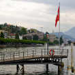 Pier of Lugano city in Switzerland — Stock Photo #12631765