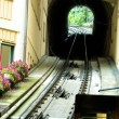 Railway of funicular — Stock Photo
