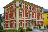 Swiss red building — Stock Photo