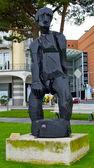 一个人在瑞士卢加诺的雕像 — 图库照片