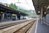 Lugano railway station — Stock Photo