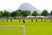 Football training session of the Swiss club Lausanne — Stock Photo