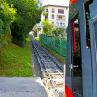 Stock Photo: Railways of funicular