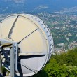 Swisscom satellite transmits over Switzerland — Stock Photo
