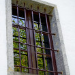 Old window with grate — Foto de stock #12654382
