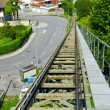 Rails over the city of Lugano, Switzerland - Stockfoto