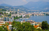 Sight of Lugano city, Switzerland — Stock Photo