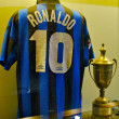 Stock Photo: Famous Inter football shirt of Ronaldo, number 10, at the Inter Milan museum