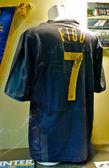 Inter shirt of Luis Figo, number 7, at the Inter Milan museum — Stock Photo