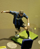Statue of the brazilian striker Adriano at the Inter museum — Stock Photo