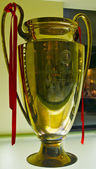 Champions League Cup won by AC Milan at the AC Milan Museum — Stok fotoğraf