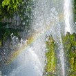 Rainbow in a fountain — Stock Photo