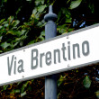 Sign Via Bretino - Stock Photo