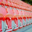 Seats of the football soccer stadium — Stock Photo