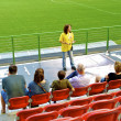 Excursion on the soccer pitch — Stock Photo