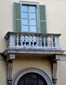 Balcony very decorative — Stock Photo
