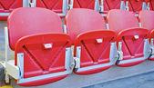 Seats on the football stadium — Stock Photo