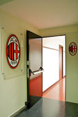Entrance into the changing room of AC Milan — Stock Photo