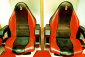Chairs in the changing room of AC Milan — Stock Photo