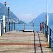 Pier in Switzerland — Stock Photo