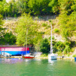 Стоковое фото: Little port of little boats