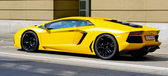 Yellow sports car — Stock Photo