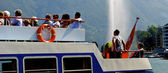 Pasajeros en el barco — Foto de Stock