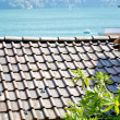 Roof of the house of the town on the mountain hill called Gandria, Switzerland — Stock Photo