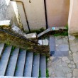 Stone stairs in little town situated on the mountain hill, called Gandria, Switzerland — Stock Photo