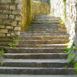 Stone stairs in little town situated on the mountain hill, called Gandria, Switzerland — Stock Photo #12735655