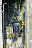 Oude gouden deur — Stockfoto