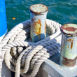 Rope on the boat — Stock Photo
