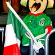 Stock Photo: Toy of Pancho from Mexico with flag