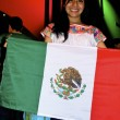 Girl from Mexico with the national flag — Stockfoto