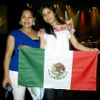Girl from Mexico with the national flag — Stock Photo