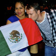Stock Photo: Boy kisses Mexicflag