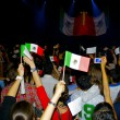 """Que viva Mexico\"" show and vawe the national flags — Stock Photo"