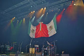 Scene with the flag of Mexico — Stock Photo